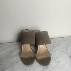 Steve Madden Brown heels mules with clear strap